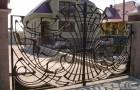 Уличные откатные ворота кованые