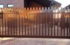 Уличные откатные ворота из алюминия Prestige