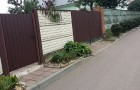 Уличные распашные ворота из металлопрофиля
