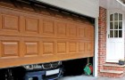 Секционные гаражные ворота под дерево