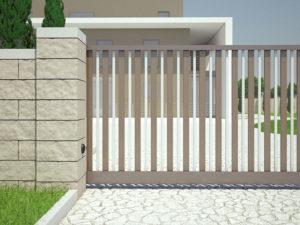 Уличные распашные ворота из алюминия Prestige